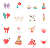 Icons Valentine s Day. Stock Images