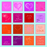 Icons-for-Valentine`s-day Royalty Free Stock Image