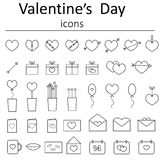 Icons for Valentine's Day Royalty Free Stock Photography