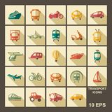 Transport icons. Vector illustration Royalty Free Stock Images