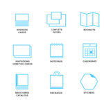 Icons of various print media Stock Photos