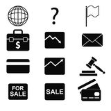 Icons 9 Royalty Free Stock Photography