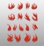Icons vector flames . Fire icon set - security leads to prosperity Stock Image