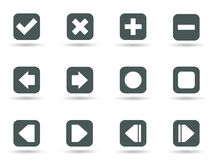 Icons in vector format Royalty Free Stock Images