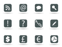 Icons in vector format Stock Image