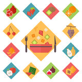 Icons vector fruit set Royalty Free Stock Image