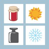 Icons. Vector illustration. Royalty Free Stock Photography