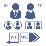 Icons. Vector illustration. Icons depicting men and women for the WC. Vector illustration Stock Image