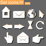 Icons, vector illustration Royalty Free Stock Photo