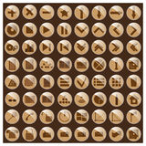 Icons. Vector illustration Royalty Free Stock Photo