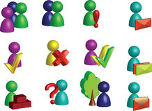 Icons. Vector icons people and communications Royalty Free Stock Photos