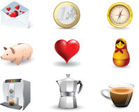 Icons vector set Royalty Free Stock Photography