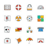 Icons vector set. Color line signs. Web. Elemens Stock Image