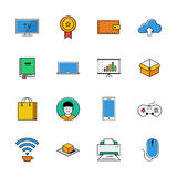 Icons vector set. Color line signs. Web Stock Images