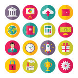 Icons Vector Set in Flat Design Style. Creative illustration on white background for presentation, booklet, website and different works Royalty Free Stock Image