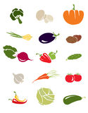 Icons -- Vegetables Royalty Free Stock Image