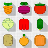 Icons of vegetables Royalty Free Stock Image