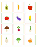 Icons: Vegetables Stock Photography