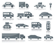 Icons of vehicles Stock Photo