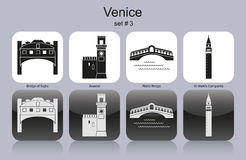 Icons of Venice Stock Photography