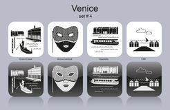 Icons of Venice Stock Images
