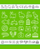 Pets care icon set Royalty Free Stock Photography
