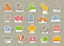Pets care icon set Stock Image
