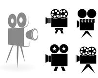 Icons of video cameras Stock Photo