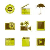 Icons video and photo filming, vector illustration. Set of flat isolated on white background icons video and photo filming, vector illustration Royalty Free Stock Images