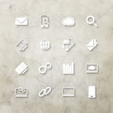 Icons on wall Royalty Free Stock Image