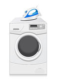 Icons are a washing-machine and iron Stock Images