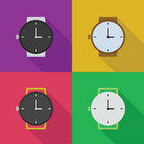 Icons of watches Stock Photo