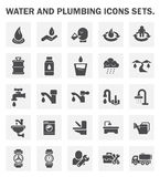 Water drinking icon. Water drinking and plumbing vector icon set Stock Photography
