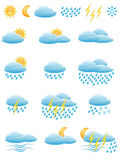 Icons of weather Stock Photos
