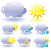 Icons for weather description Royalty Free Stock Image