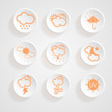 Icons weather design Royalty Free Stock Image