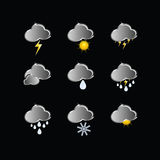 Icons for weather forecast vector Royalty Free Stock Photography