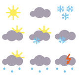 Icons for weather forecast Stock Images