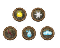 Icons weather Royalty Free Stock Photography