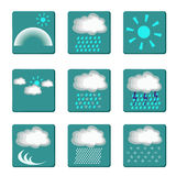Icons of weather Stock Photo