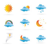 Icons weather Royalty Free Stock Image