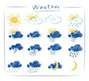 Icons - weather set Stock Photography