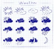 Icons - weather set Royalty Free Stock Photography