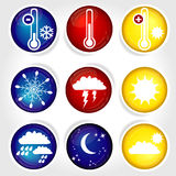 9 icons weather Stock Photos
