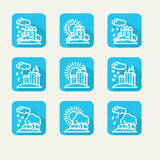 Icons - weather Royalty Free Stock Photo