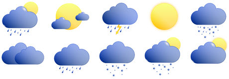Icons weather Stock Photos