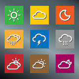 Icons Weather Square Royalty Free Stock Photo