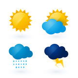 Icons for weather Royalty Free Stock Photography