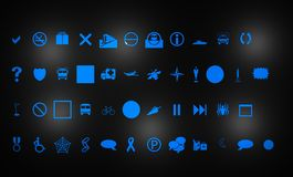 Icons for web. Design and development royalty free illustration