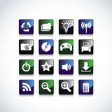 Icons for Web Applications. Royalty Free Stock Images